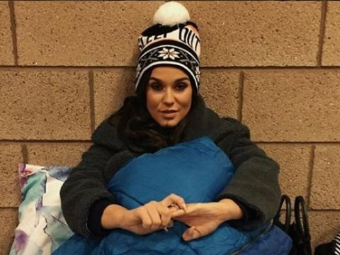 Vicky Pattison sleeps rough to raise awareness for youth homelessness