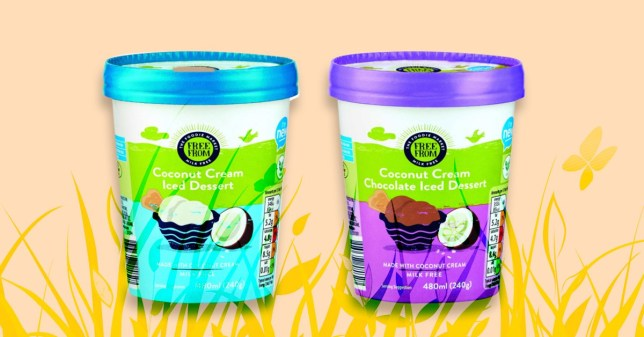 Aldi launch two new vegan, dairy-free ice creams - both coconut cream