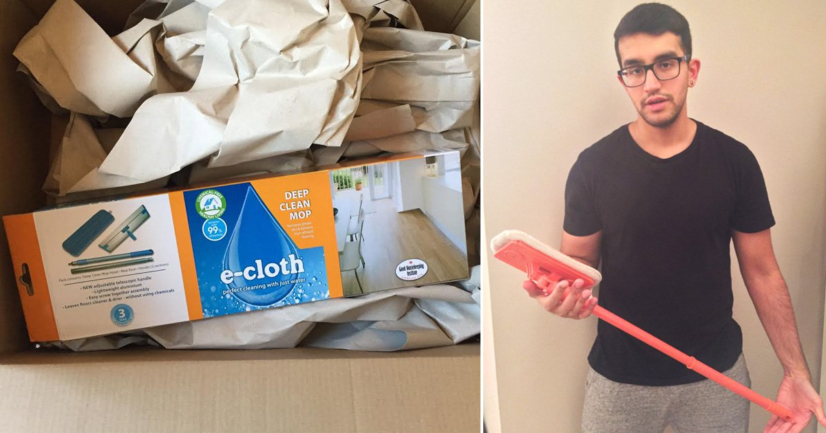 Man buys £3,000 laptop online – but receives £20 mop instead