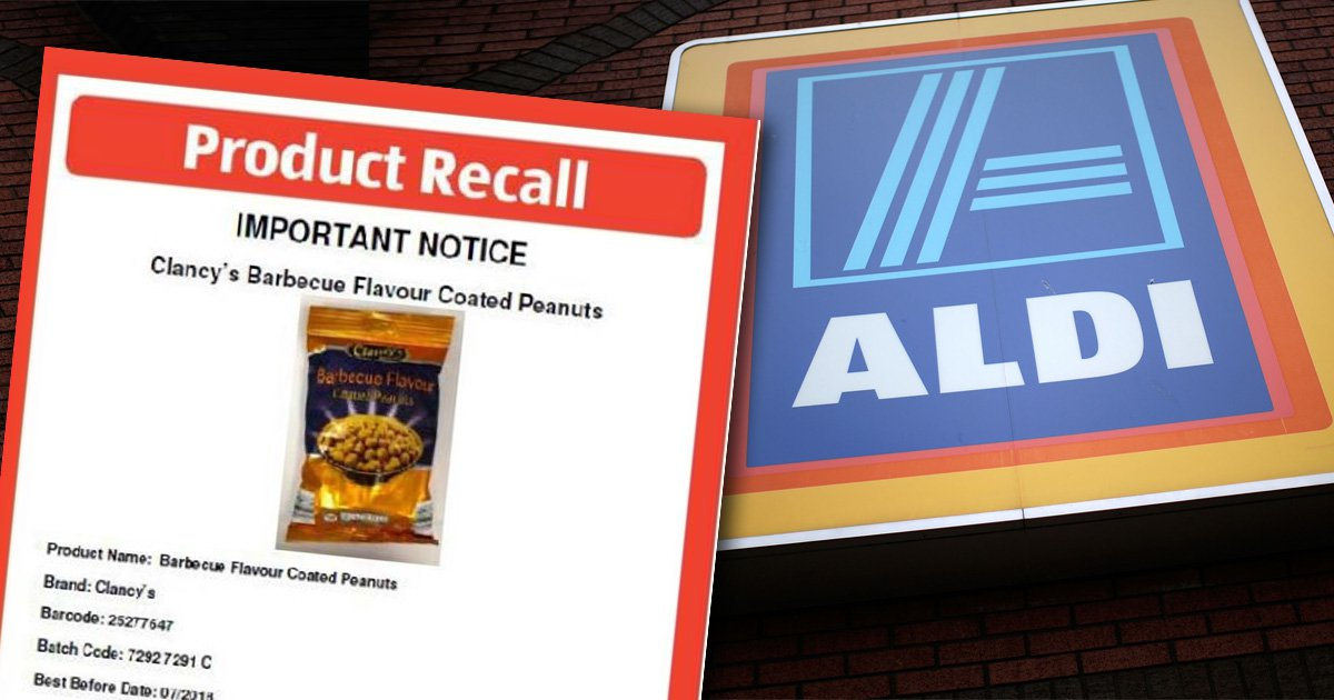 Aldi recalls nuts because packet doesn't warn that it contains nuts