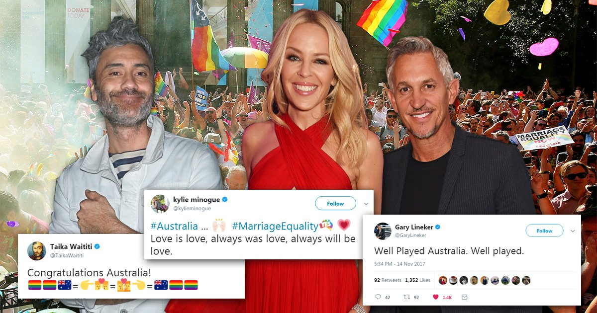 Kylie Minogue celebrates Australia's gay marriage vote: 'Love is love, always was love, always will be love'