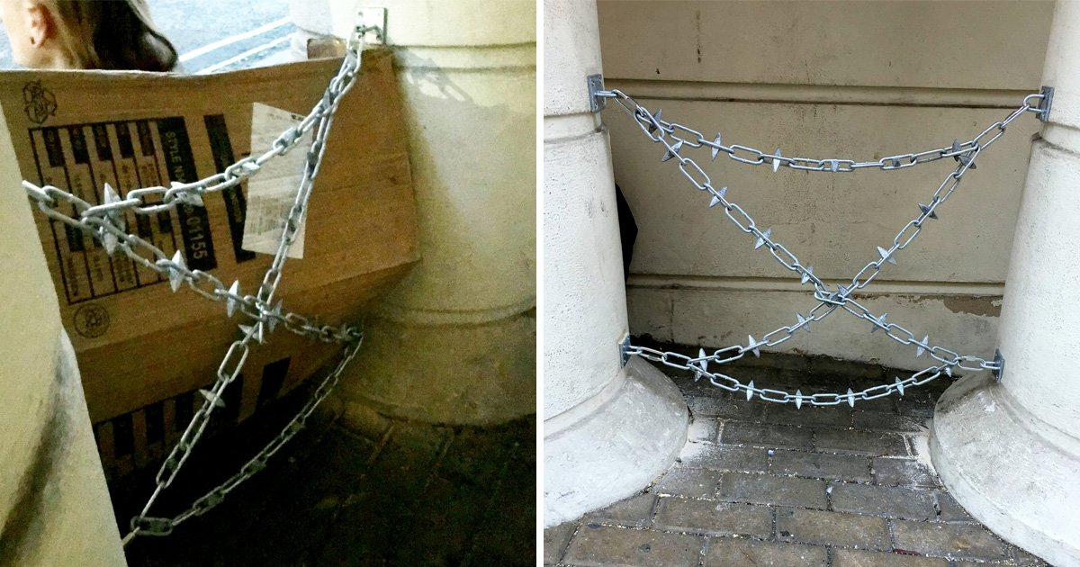 Fund for homeless man whose shelter was blocked with spikes reaches £5,000