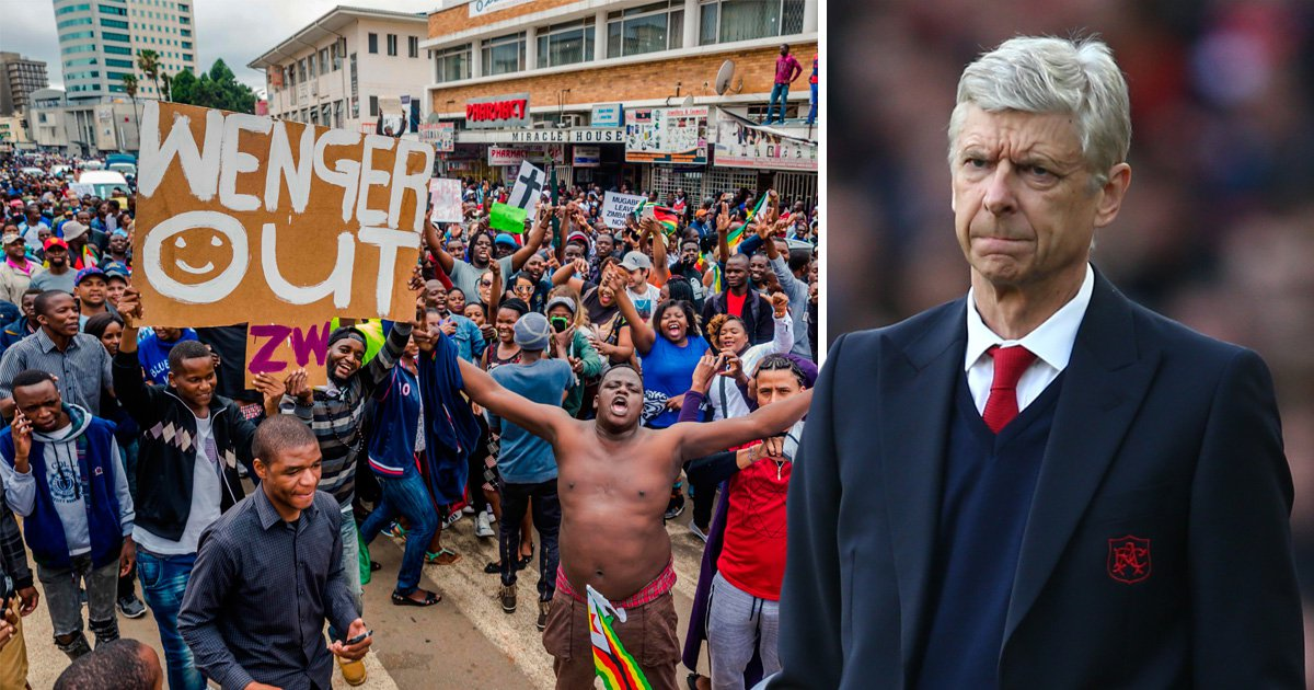 Anti-Mugabe protesters in Zimbabwe want 'Wenger out' while they're at it