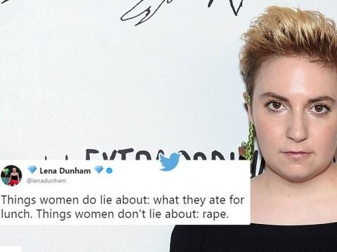 Lena Dunham tweeted 'women don't lie about rape' months before defending friend accused of rape