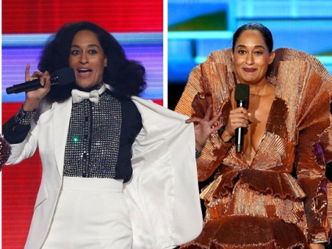 Tracee Ellis Ross reveals 12 different outfit changes during the AMAs – including a sweet tribute to her mum Diana