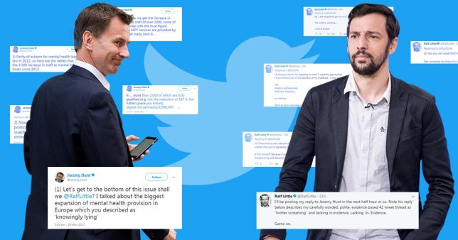 Jeremy Hunt has gone on a twitter rant against Ralf Little
