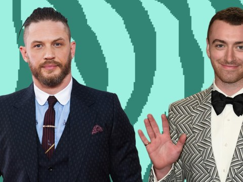 Sam Smith says he had to 'grab his balls' to sing in front of his crush Tom Hardy