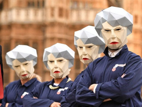 A load of Maybots have turned up outside Parliament ahead of the Budget