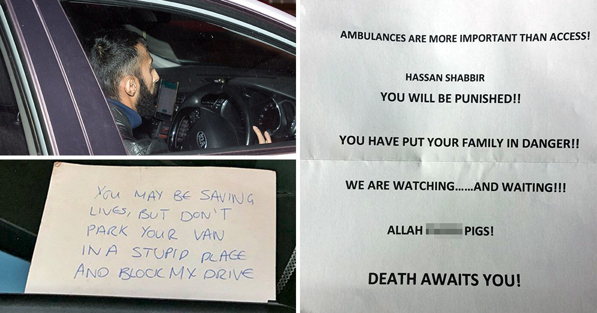 Man who left note on ambulance outside his house says he's had death threats