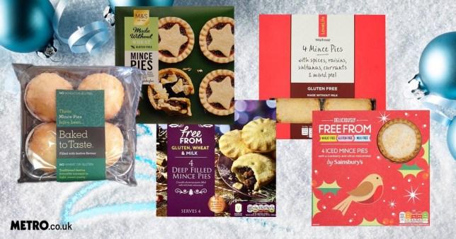 Top 10 gluten free mince pies