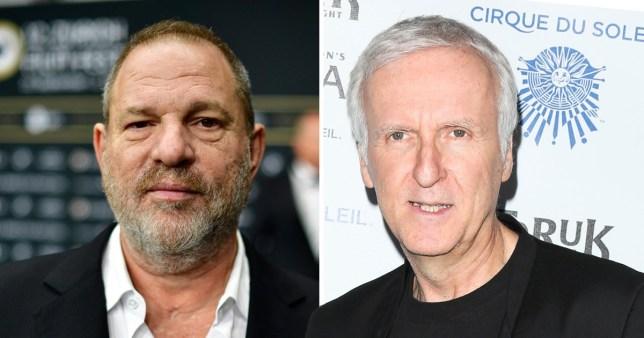 Harvey Weinstein and James Cameron