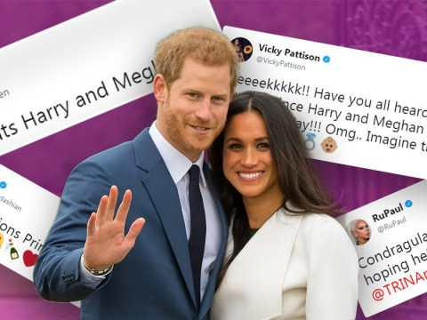 Celebrities flock to congratulate Meghan Markle and Prince Harry on their engagement