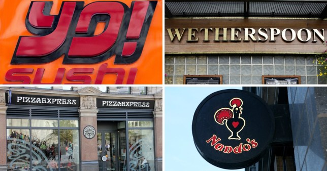 15 restaurant chains that have coped well with my nut