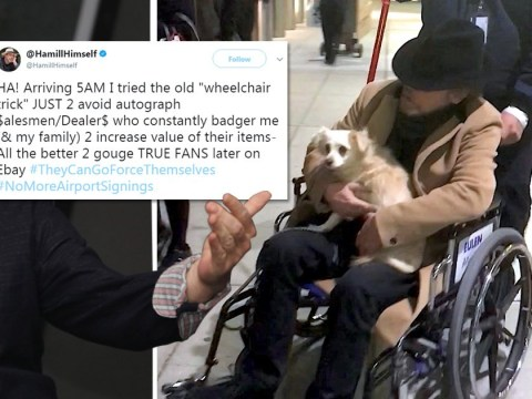 Mark Hamill claims wheelchair pictures were a 'trick' to avoid autograph hunters