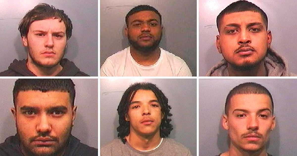 Six jailed for more than 100 years over '1920s Chicago-style' shooting