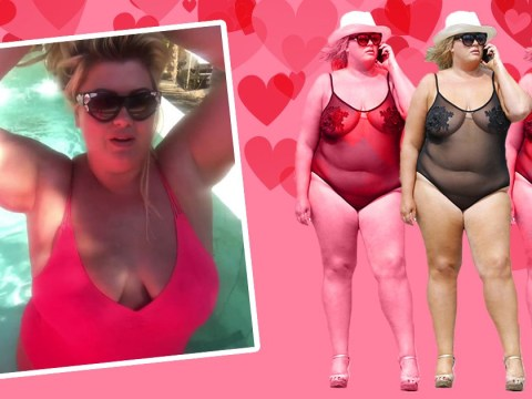 Gemma Collins urges fans to 'rock yourself' as she fights the haters in another mesh swimsuit
