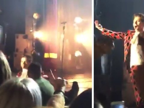 Harry Styles spectacularly hits the deck during gig as dance moves get a bit too wild