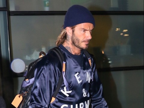 David Beckham touches down in New York to visit son Brooklyn at uni
