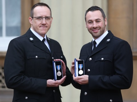 Officers who wrestled Jo Cox's killer to ground given bravery medals