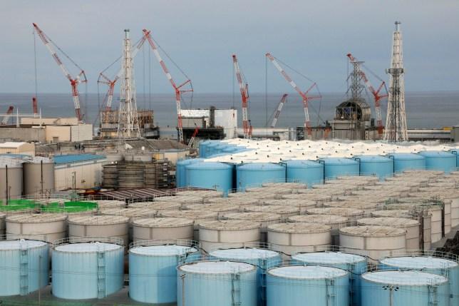 Tons of Fukushima water