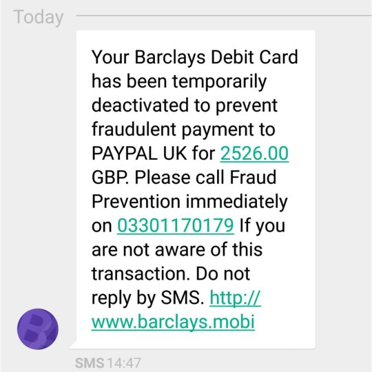 Barclays scam texts you should never respond to, and others to avoid