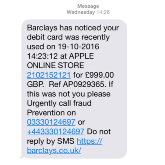 Barclays scam texts you should never respond to, and others