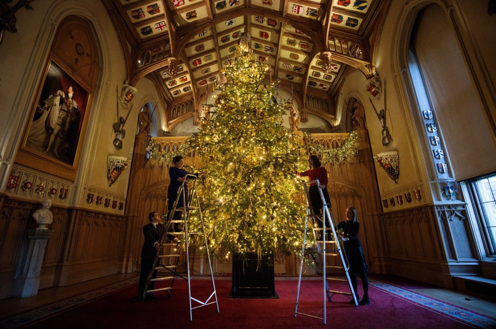 Queen's christmas tree