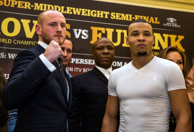 George Groves and Chris Eubank Jr pose for the cameras side by side