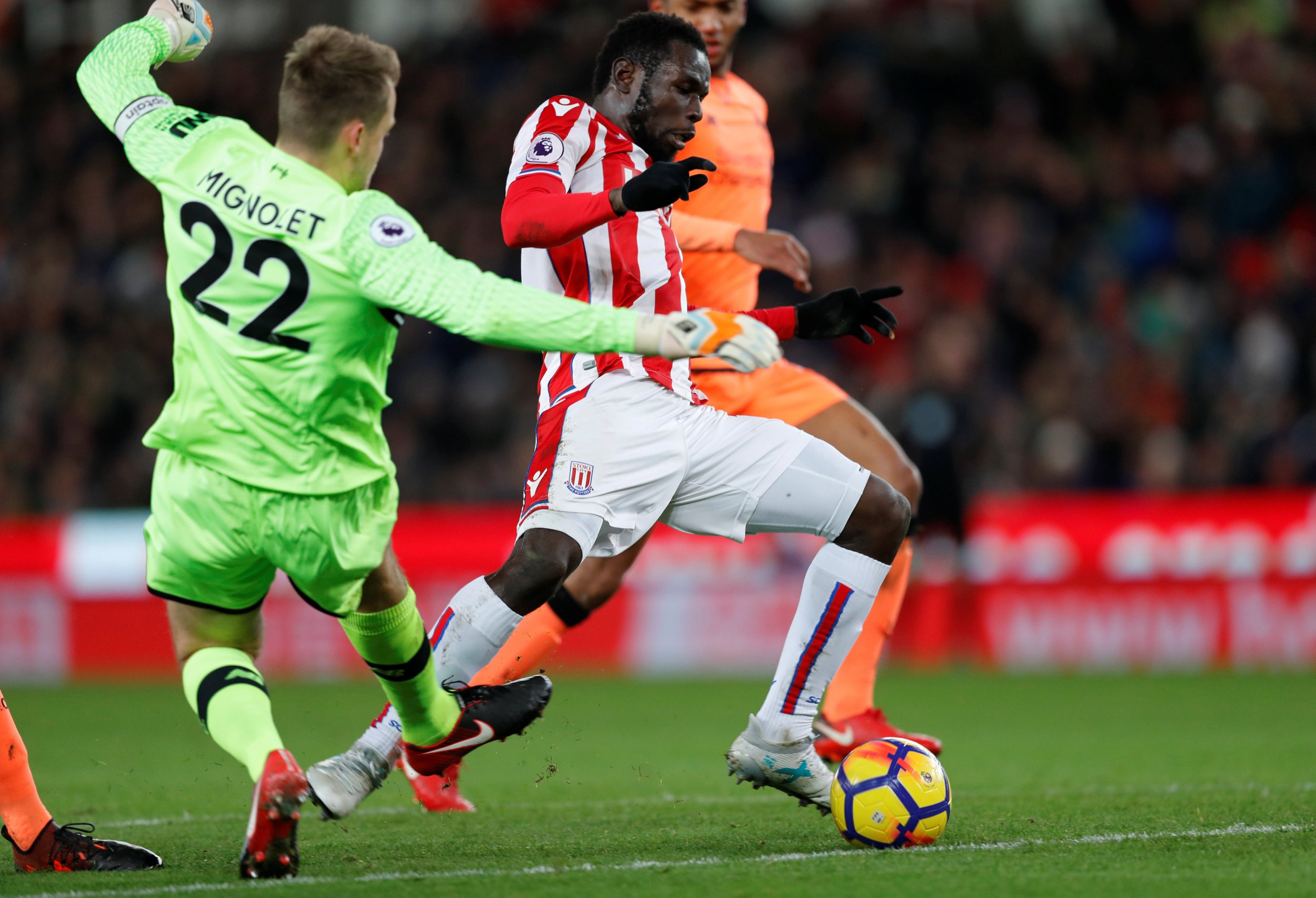 Liverpool star Simon Mignolet relieved he avoided red card against Stoke after 'instinct' kicked in
