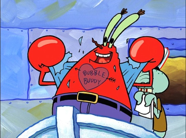 Spongebob Squarepants' Mr Krabs is celebrating his 75th ...