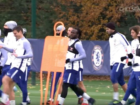 Victor Moses returns to full training ahead of Chelsea's clash with Liverpool