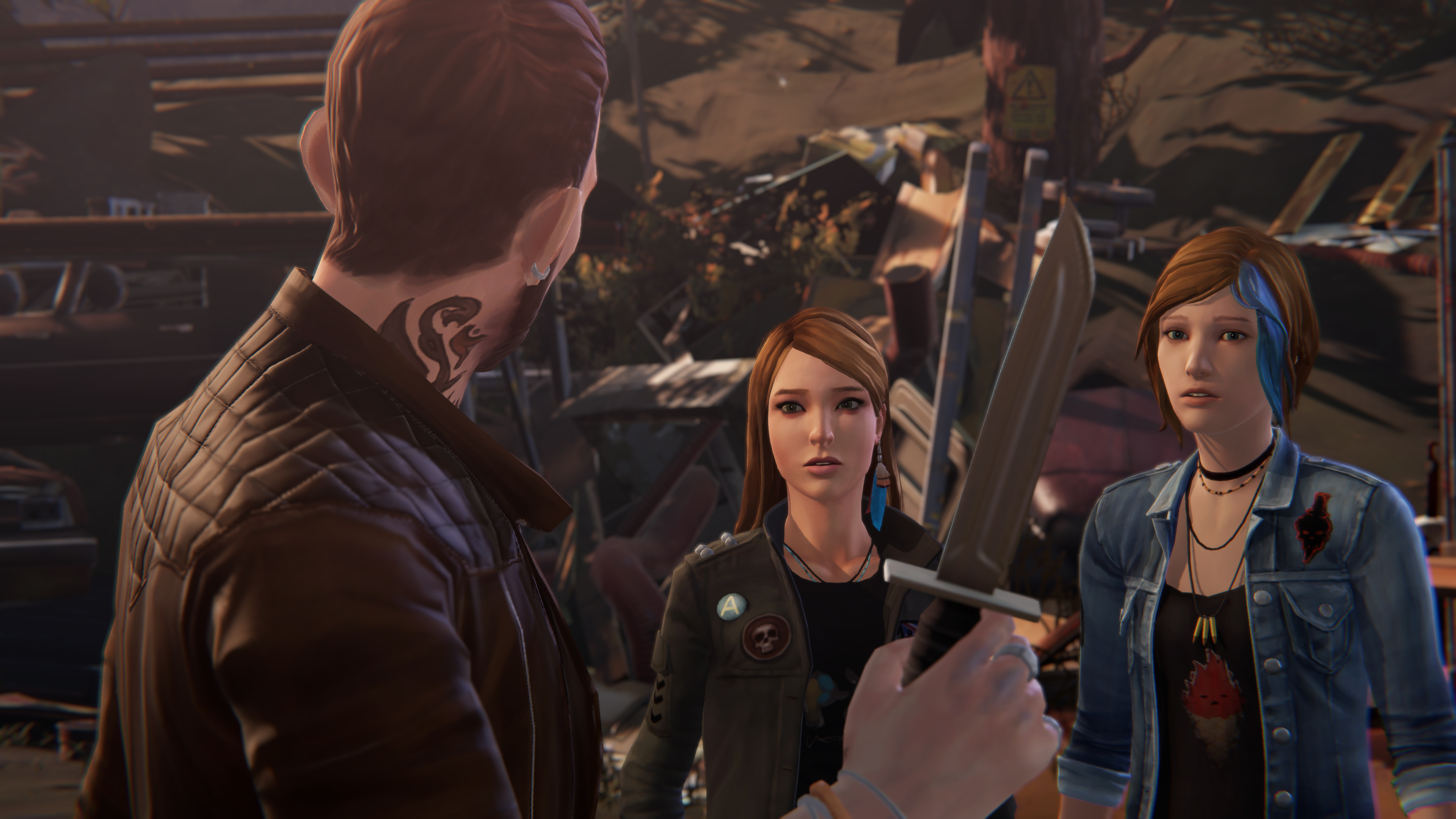 Before The Storm: Episode 3 (PS4) - a game of Knifey-Spoony is the least of Chloe's problems