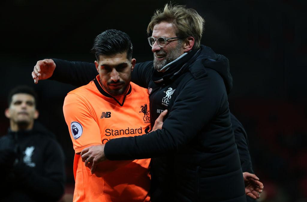 Emre Can with Liverpool manager Jurgen Klopp
