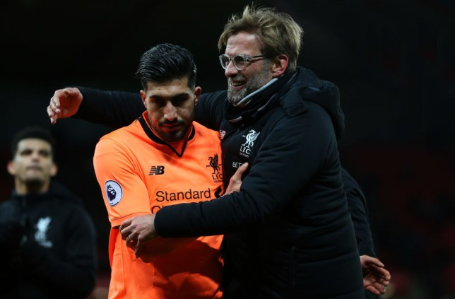 Emre Can with Liverpool manager Jurgen Klopp