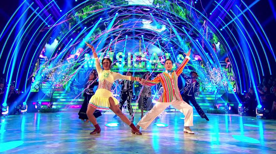 Strictly's Alexandra Burke and Debbie McGee joint top of the leaderboard after Musicals week