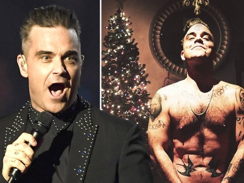 Robbie Williams gives us the gift we didn't ask for as he gets his kit off for Christmas