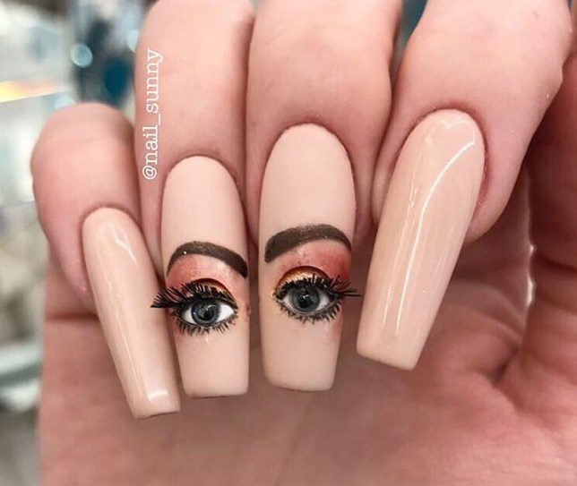 This blinking eyeball nail art may haunt your dreams | Metro News