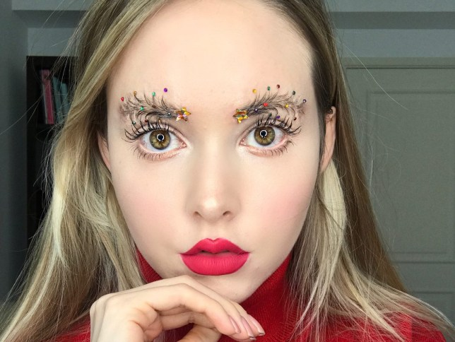 christmas tree brows trend
