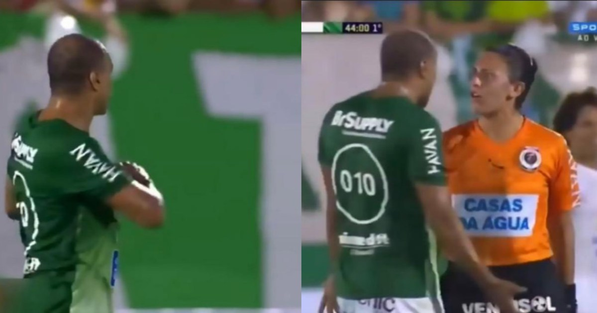Video: World Cup hero Denilson confronted by ref after flirting with lineswoman
