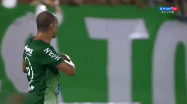 Video: World Cup winner Denilson told off by referee after making heart gesture at match official