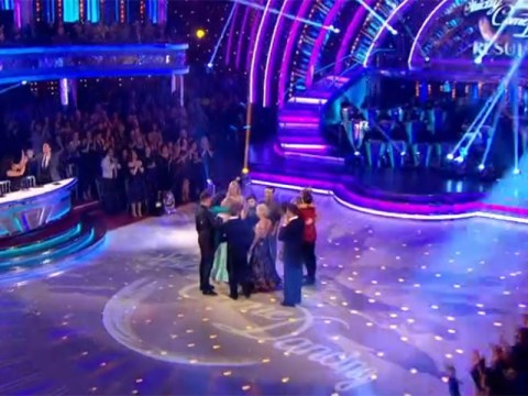 Gemma Atkinson and Gorka Marquez 'kiss and make up' with embrace on Strictly results show