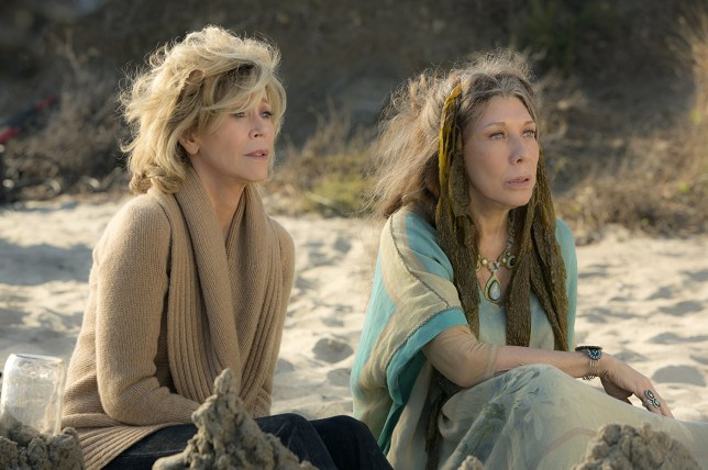 Jane Fonda and Lily Tomlin in Grace and Frankie (2015)