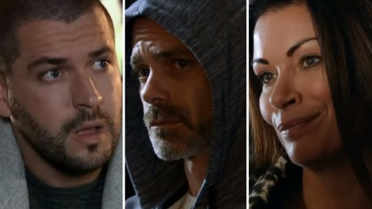 Coronation Street Christmas trailer spoilers for Aidan Billy and Carla