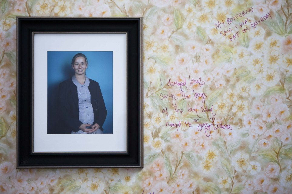 wall of shamed art exhibition gives room for women to tell their stories