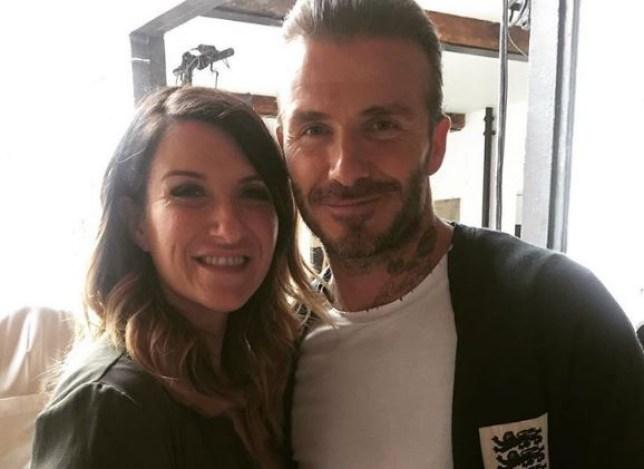 Joanne and David Beckham