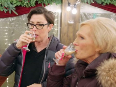 Mary Berry, Mel and Sue reunite for BBC Christmas special and Bake Off fans are thrilled to say the least