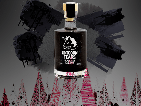 Release your inner goth this Christmas with this black gin