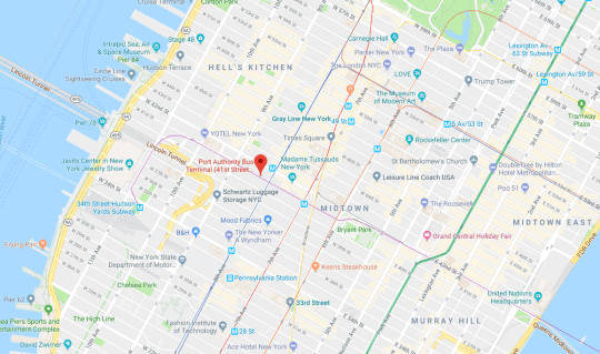 Google New York Subway Map.Where Is The Port Authority Bus Terminal In New York Metro News