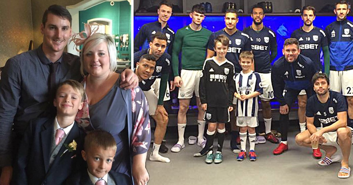Mother's final wish for football-obsessed family comes true hours before she dies