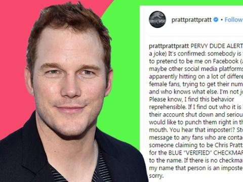 Chris Pratt threatens 'pervy dude' imposter using his name to scam women on Facebook